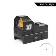 Tactical Compact Red Dot HD105 Sight Reflex Optics Riflescope Fit 20MM Dovetail Rail For Pisto Glock Hunting Scope