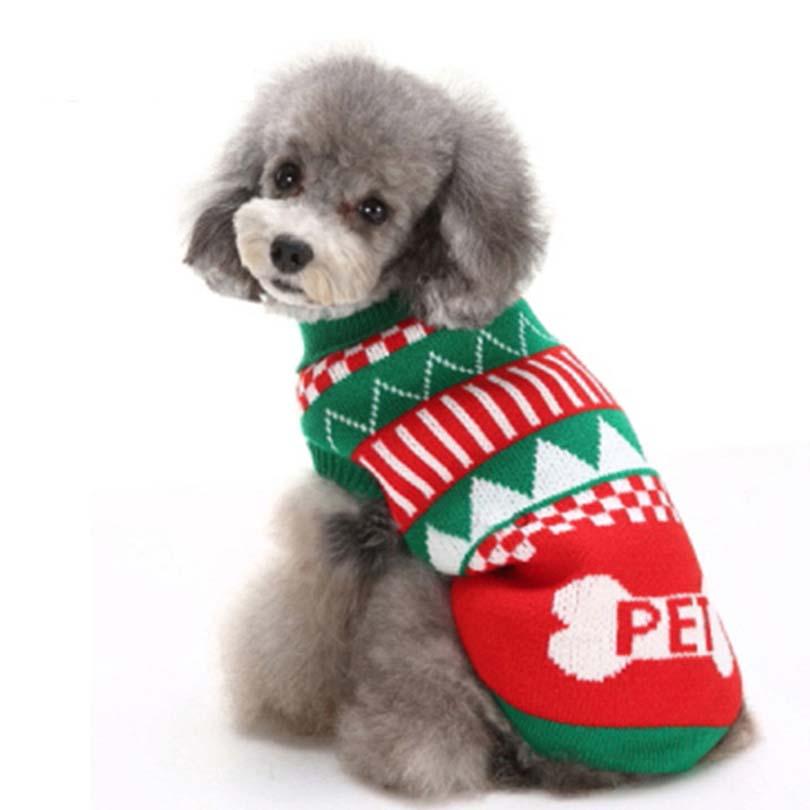 Pet Coat DIY Dog Sweater Cat Sweater Knitted Coat Apparel Autumn ...