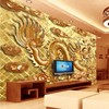 Custom Large Fresco High Grade Jinlong TV Backdrop Non Woven Fabric Wallpaper Papel De Parede 3d