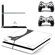 Batman PS4 Skin Sticker for PS4 System Playstation 4 Console with 2 Controller Skins–white