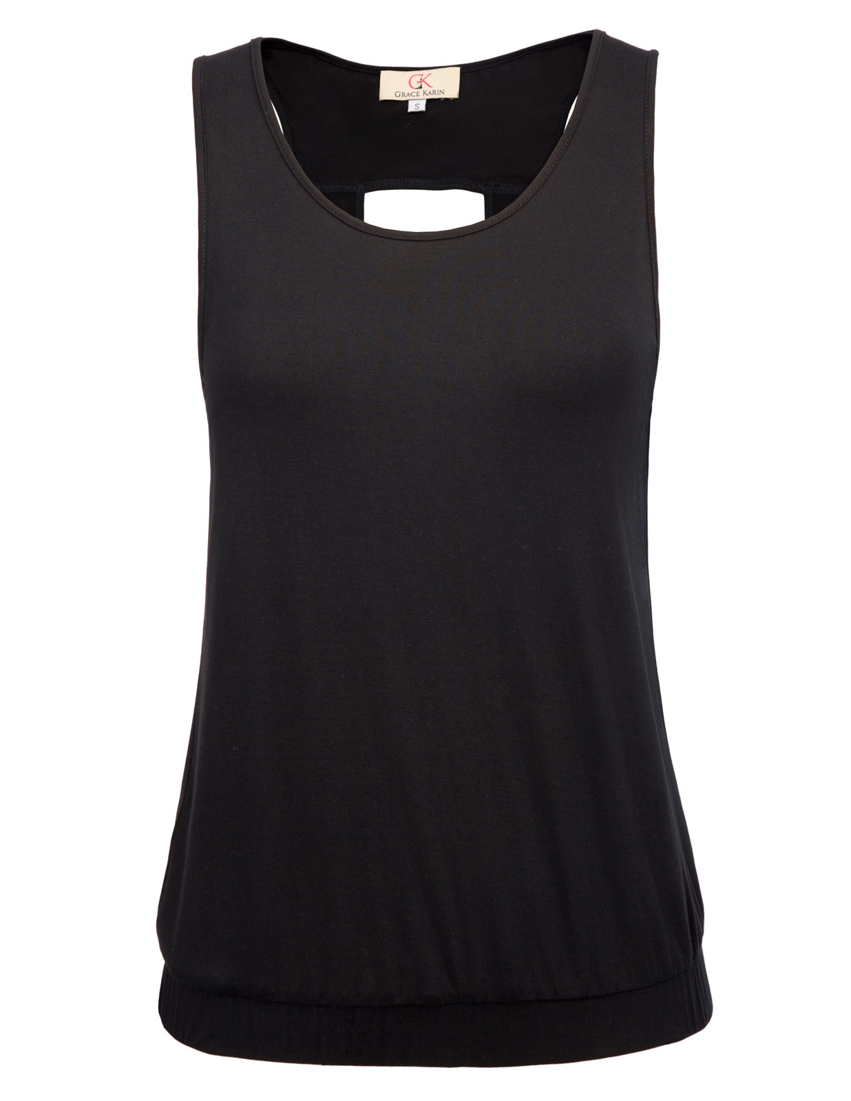 summer cool tank top Sexy Women Comfy Sleeveless Hollowed Back Rayon solid color casual Tank Top