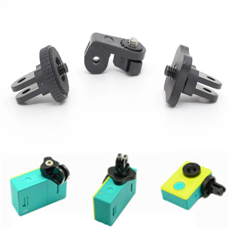 1/4Connecter Mini Tripod Adapter Mount for Gopro Hero 5 4 3 Sj4000 Xiaomi Yi 4K Screw For Eken Go Pro Action Camera Accessories gopro accessories head belt strap mount adjustable elastic for gopro hero 4 3 2 1 sjcam xiaomi yi camera vp202 free shipping