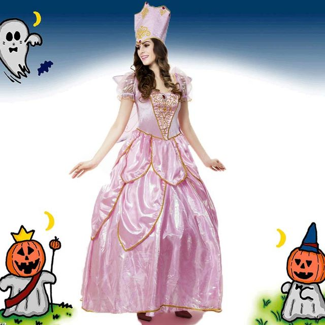 Hot Sexy Elegant Deluxe Fairy Godmother Costume Adult Glinda Wizard Of Oz Halloween Fancy Dress Fairy Godmother Adult Costumes  sc 1 st  Aliexpress : glinda adult costume  - Germanpascual.Com