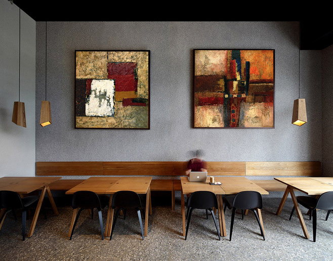 Modern Style Abstract Oil Painting Canvas Painting Home Decor Cafe ...