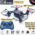 T901C Drone RC 2.4 Ghz 4CH 6 Axis Gyro 2.0 MP Cámara 3D rodillo de Retorno Automático Sin Cabeza RC Quadrocopter Helicóptero VS MJX X600 RC DRONE