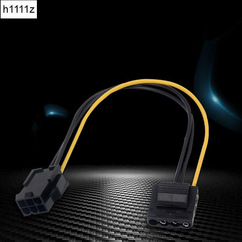Адаптер питания Molex в PCI-E IDE, 4-контактный разъем мама в 6-контактный разъем, кабель преобразователя видеокарты, 1 шт., 1 шт., оптовая продажа