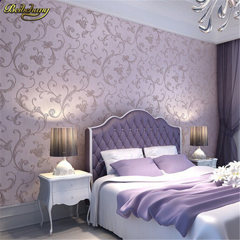 31%. $31.05. Beibehang European Romantic Style Wall Paper Non Woven  Wallpaper Living Room ...