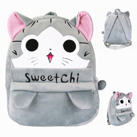 2016 High Quality Korean Cat Plush Backpack Kids Plush Toys Bag Animal Kindergarten School Bag Gift