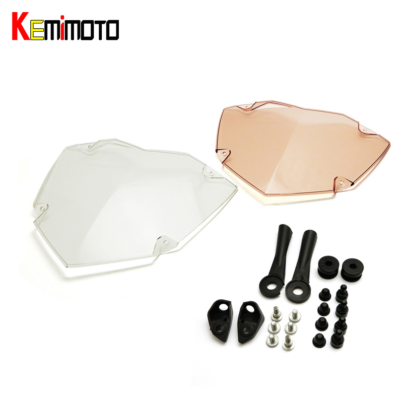 KEMiMOTO For BMW R1200GS ADV 2013-2016 Headlight Protector Cover Transparent Headlight Guard Headlight Protector after market r1200gs motorcycle headlight grill guard cover protector for bmw r 1200 gs r1200gs adv adventure r 1200gs 2012 2016