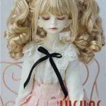 JD308 1/4 MDS двойные вьющиеся парики Пони BJD 7-8 дюймов модные MSD синтетические мохеровые кукольные парики