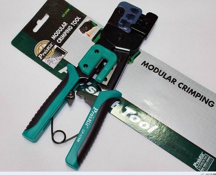 ФОТО Pro'sKit CP-376M Modular Crimping Tool(225mm),4p 6p 8p ethernet cable crimping plier,3 1 ratchet crimping plier