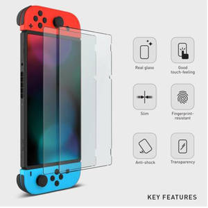 Protective film 9h tempered glass screen protector for nintendo switch