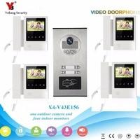 YobangSecurity 4 3 Inch Color Video Door Phone Doorbell Camera Entry Intercom System RFID Access Control