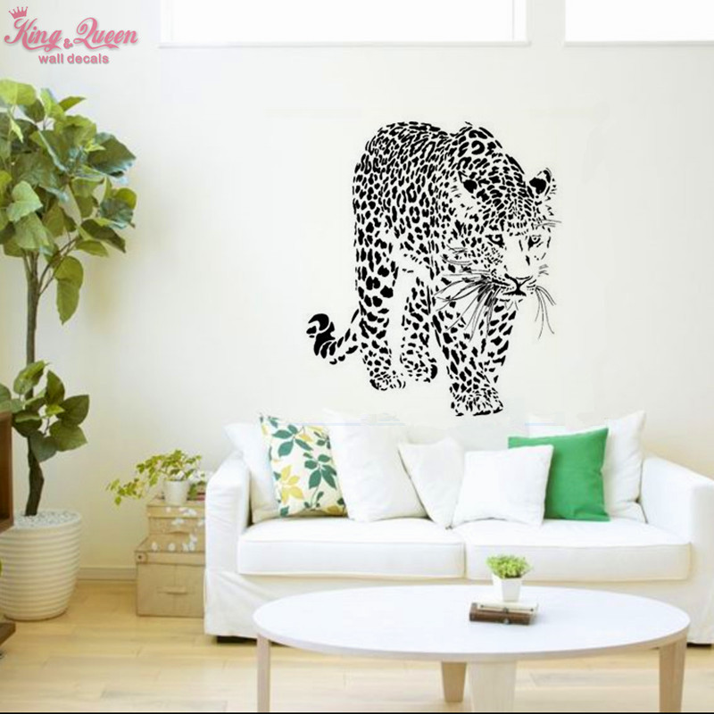 ᗔDier Serie-Luipaard Vinyl Decals Muur Art Decor Woonkamer Mode ...