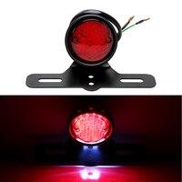 For Harley Chopper Bobber Taillight Cafe Racer LED Motorcycle Tail Brake Stop Light Moto Rear Lights