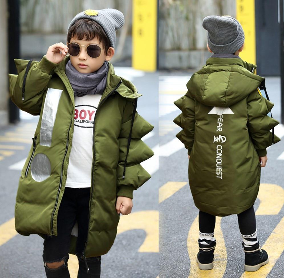 Boys Winter Coats 2017 NEW Children Down Jackets Hooded Teenagers Girls Jackets Long Kids Parka 3 To 10 Years Children Outerwear