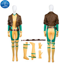 2017 Cosplay Costume X-Men Rogue Mary Roleplay Women's Adult Cosplay Jumpsuit Jacket Free Shipment Custom Made цена и фото