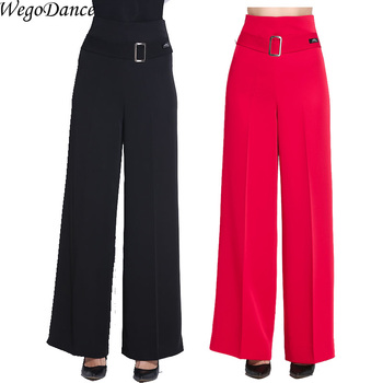 modern dance trousers Latin dance leggings ballroom national standard dance pant for woman