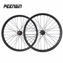 OEM 65/80/90/100mm fat bike 26er fatbike carbon wheels 25mm deep hookless clincher tubeless DIY snow cycling carbon bicycle rim(China)