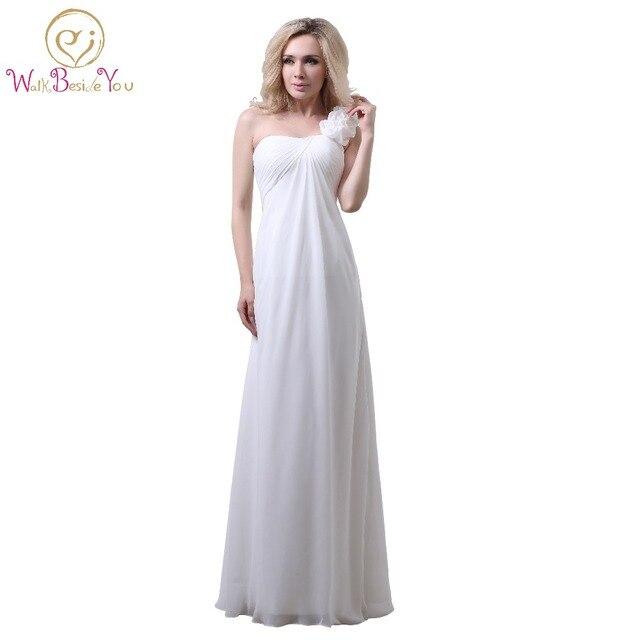 Weiß Abendkleider Abendkleid Luxuriöse Schulter Chiffon mit Blumen ...
