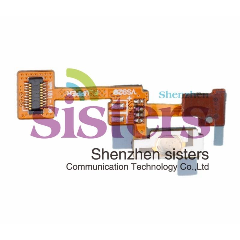 10 piezas/lote de piezas de repuesto de Cable flexible con botón de alimentación garantizado de calidad para LG espectro VS920 envío gratis