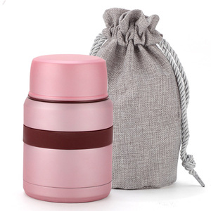 Image 2 - 2018 new stainless steel thermos food container inox folden spoon bag flask kids lunch box bento thermo outdoor insulate