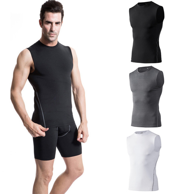 Men Male Slim Body Sport Training Basketball Vest New Elastic Fast Drying Outdoor Running Vest 3 Colors Optional free shipping