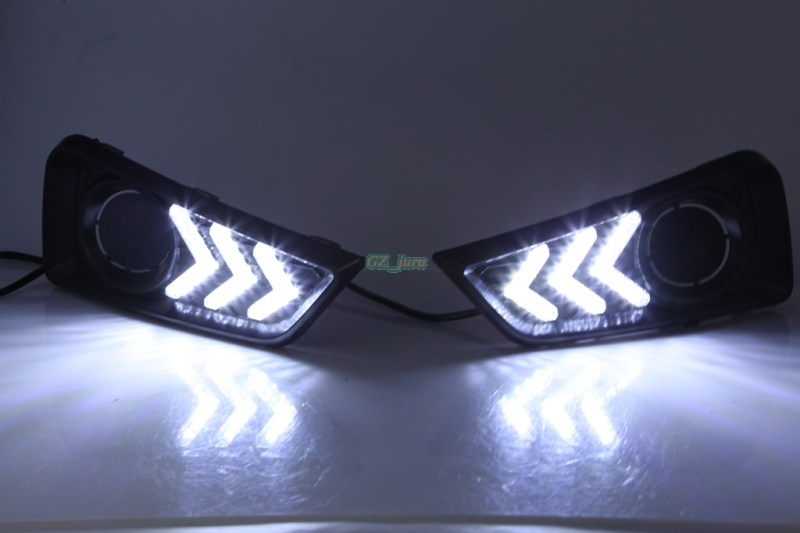 ФОТО  For Honda City 2015 2016 2017 DRL Driving Daytime Running Lights DRL  fog lamp Relay Daylight car-styling