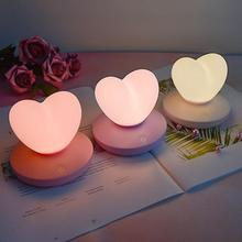 LED Touch Control Table Lamp USB Rechargable girl Modeling lamp Energy saving Romantic Love Heart shape Decoration Night Light new arrival creative energy saving rechargeable 3d colorful motorcycle shape led with usb table lamp or room decoration