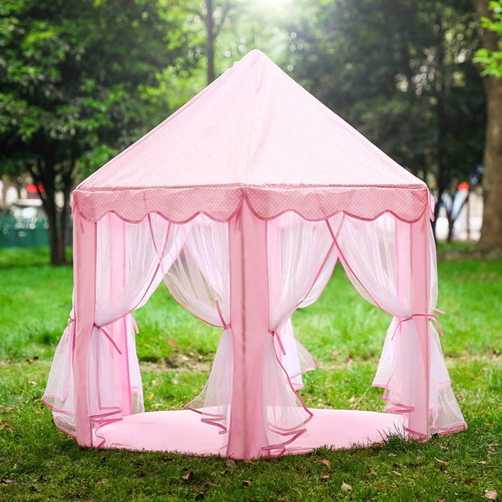 Princess Play Tent Portable Boys Girls Castle Tents Foldable Indoor Outdoor Garden Lodge Kids Balls Pool Playhouse Children's