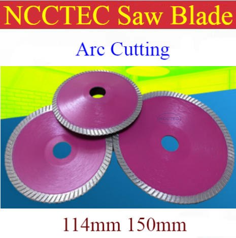 4.5'' 6'' NCCTEC Diamond ARC Turbo Saw Blade | 114mm 150mm Washbasin Cupboard Fish Tank Granite Marble Curve Cutting Discs Plate