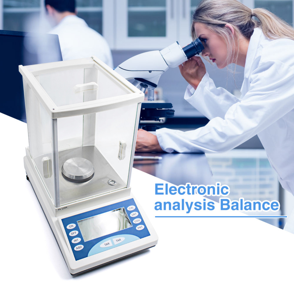200g * 0.1 mg Balance d'analyse électronique LCD Balance d'analyse de poids Balance de bijoux numérique Balance expérimentale de poids numérique