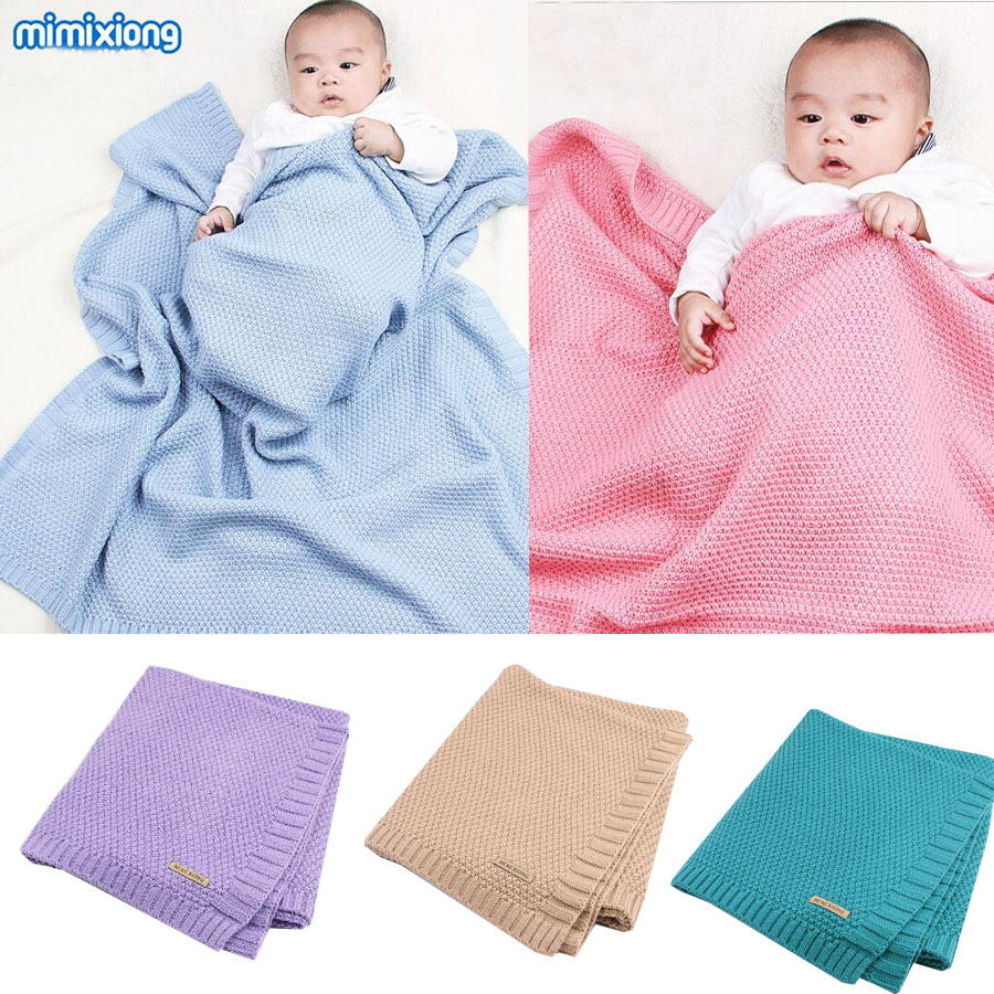 mimixiong Baby Swaddle Blanket Newborn Infant Girls Boys Cotton Woolen Bedding Blankets Knitted Soft Baby Bath Towels Play Mat removable liner baby infant swaddle blanket 100