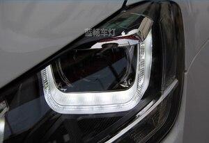 Image 3 - Cubierta de faro delantero para coche Golf 7 2014, faros delanteros Golf7 MK7, luz trasera LED, lente DRL, doble haz, bi xenón HID, 2 uds.