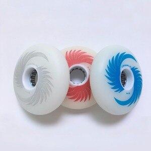 Image 5 - 80mm 76mm 72mm 88A LED Blinkt Räder mit 8 PCS Magnetische Core für Slalom Rutsche Inline Skates 4 Led Roller für Erwachsene Kinder LZ51