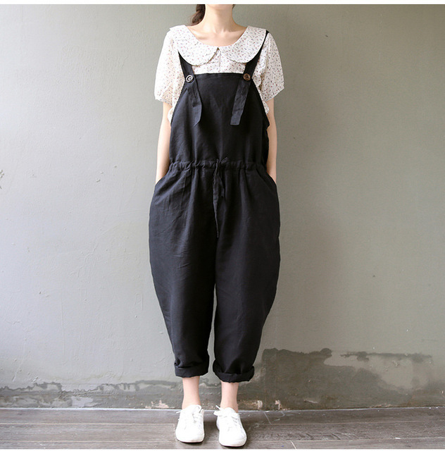 Maternity suspenders women's pants pregnant rompers maternity trousers with braces autumn and spring pant Y15602