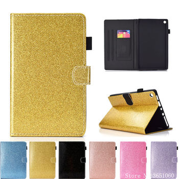 Glitter Case dla Amazon kindle Fire HD8 HD 8 2017 7th generacji Funda Tablet pokrywa dla kindle ogień HD 8 2016 6th stojak na telefon
