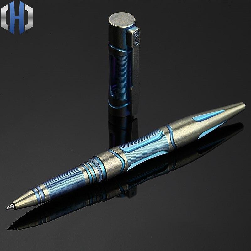 Titanium Tactical Pen Color Gold Version Of The Defense Pen Tungsten Steel Head Self defense Equipment Martial Arts Broken EDC - 2