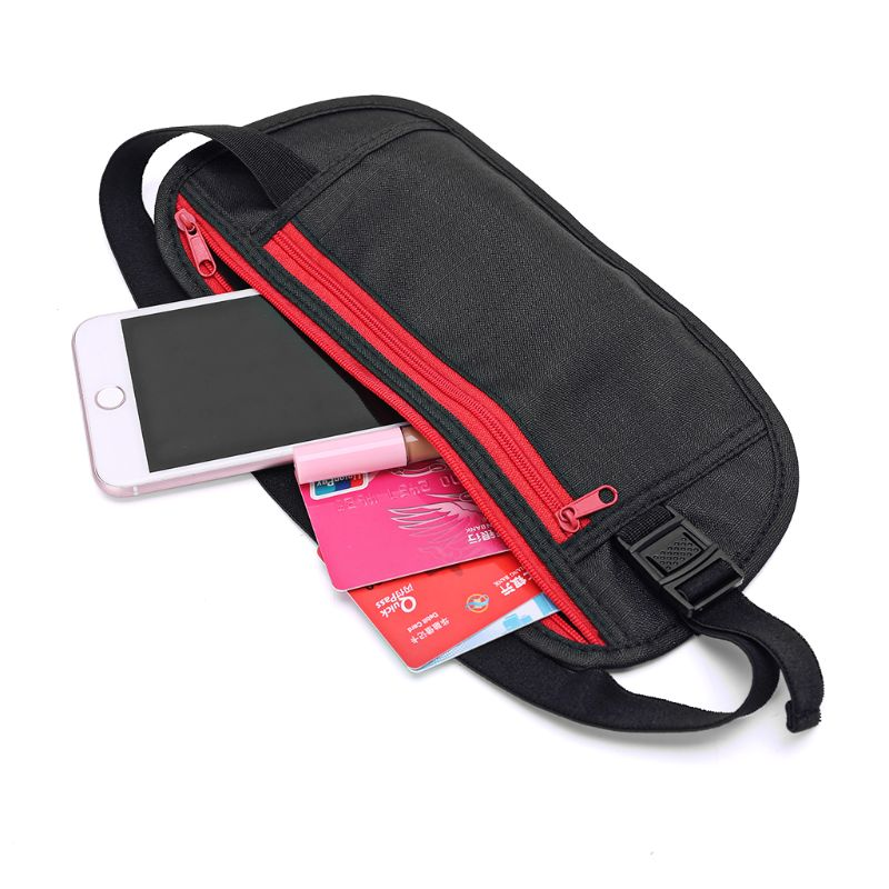 Unisex Slim Waist Bags Travel Sport Money Belt Hidden Wallet Pouch Passport Security Pocket Anti-Theft Chest Pack Fanny Bag 2019