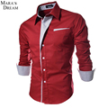 2017 New Mens Shirt Big size Casual Shirt Slim Fit Formal Shirt Social striped collar fashion Wedding shirts