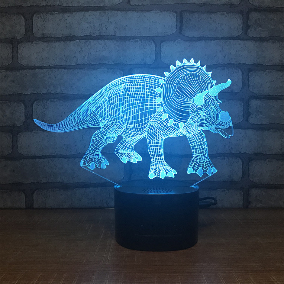 3d New Illusion Led Lamp Dinosaur 3 Color Led Bulb Decoration Animal Night Light Touch Sleeping Nightlight Table Lamp Boys Gifts Led Lamps