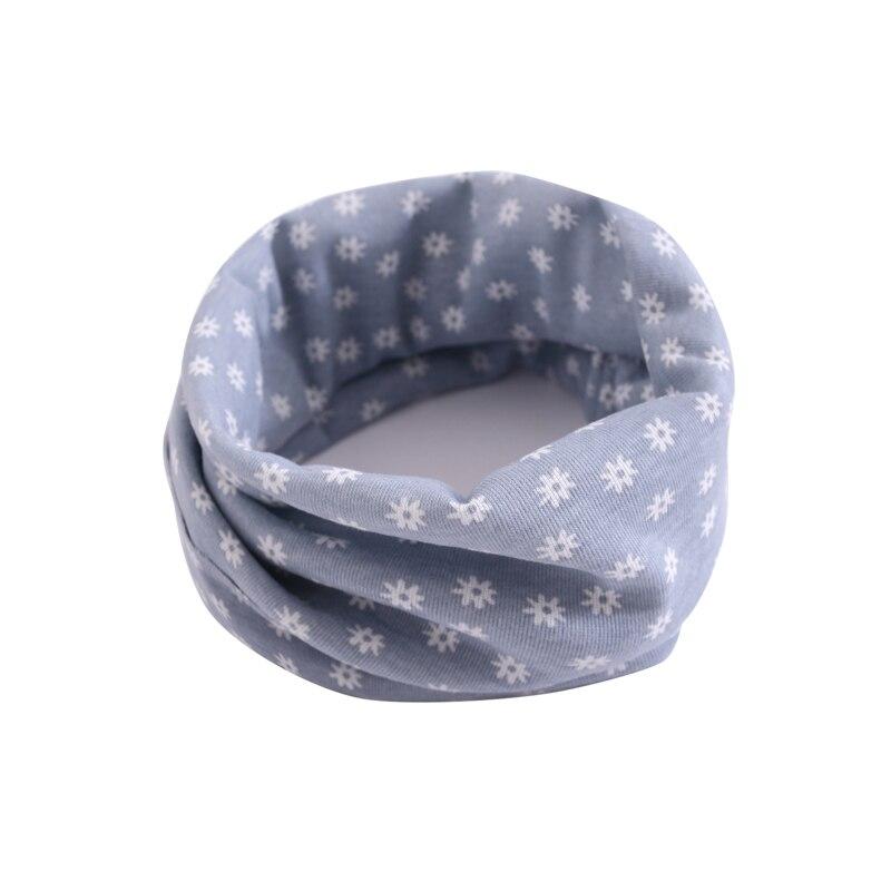 Детский хлопковый шейный шарф с милым принтом; детский теплый шарф; Детские воротники; осенне-зимний шарф-кольцо для мальчиков и девочек; аксессуары для детской одежды - Цвет: wb016
