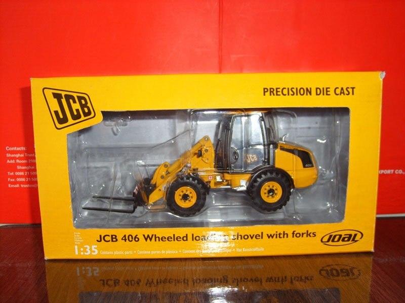 JOAL 278 1:35 JCB 406 колесная погрузочная лопата с вилками игрушки