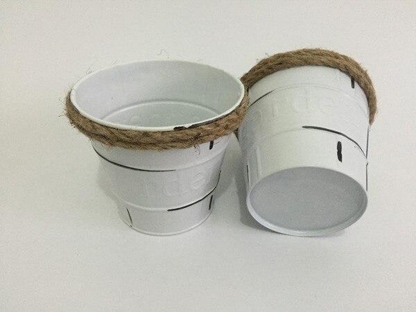 D115h10cm pure white flower buckets small flower pots metal d115h10cm pure white flower buckets small flower pots metal planter antique vintage mightylinksfo Gallery
