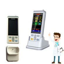 100% New Smallest and Exquisite  handheld 3.5inch Protable Vital Sign Monitor Patient with Spo2,TEMP,NIBP 3 Parameters