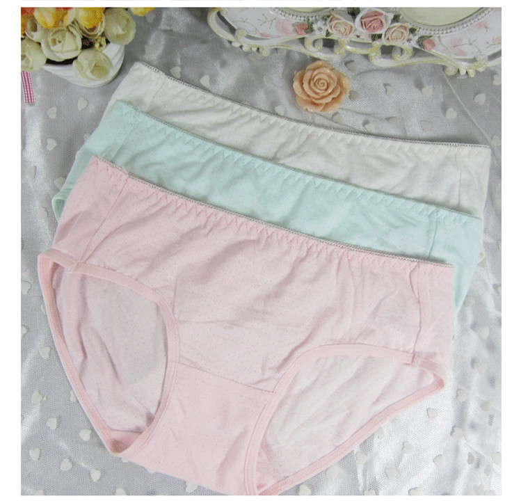 Women Brief Japanese Girl Sweet Comfortable Soft Carry Buttock Breathable Bikini Underwear