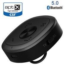 APTX HD Bluetooth 5.0เครื่องส่งสัญญาณCSR8675ไร้สายอะแดปเตอร์เสียง3.5มม.Losslessความล่าช้าต่ำสำหรับPC TVหูฟังD2 001