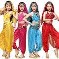 3 Шт. Девочек Восточного Танца Живота Износа Танец Живота Платье Танец Живота Одежды Топ и Брюки Для Детей