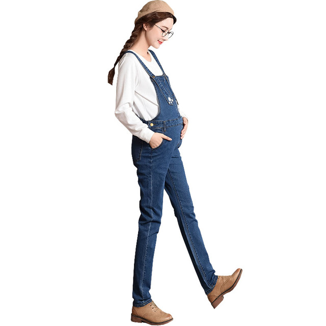 095d5f39177a4 Maternity Denim Overalls Straps Jeans For Pregnant Women Pants Pregnancy  Braced Bibs Work Carrying Maternity Suspenders Uniforms
