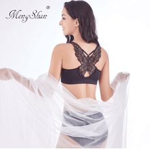 Fat mm, fat and cup a set of underwear Sexy Butterfly Back big size bra set Agglomeration adjustment type plus size bra set цена